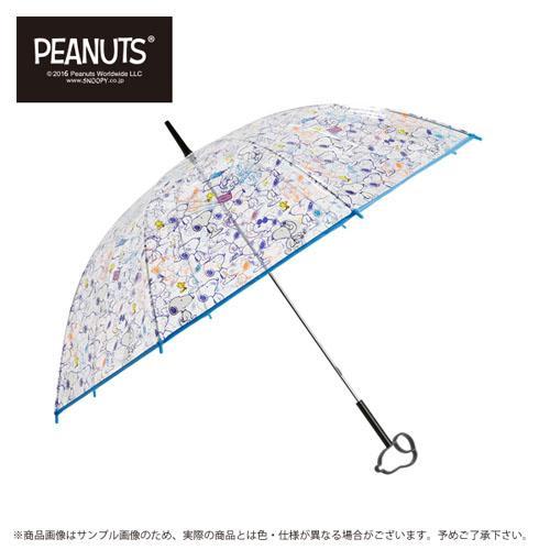 日本代購預購 用傘紙箱運送 snoopy 史努比 透明雨傘 長傘 直立式 雨傘手把立體造型 778-981