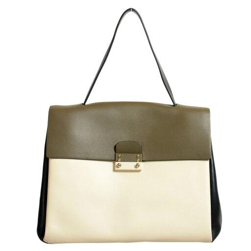 Valentino-Garavani-Womens-100-Leather-Multi-Color-Satchel-Handbag-Shoulder-Bag