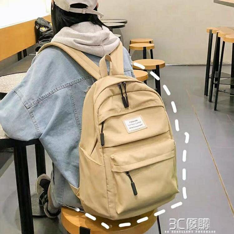 精品夯貨~大容量書包女高中學生帆布雙肩包韓版校園風ins初中生旅行背包潮