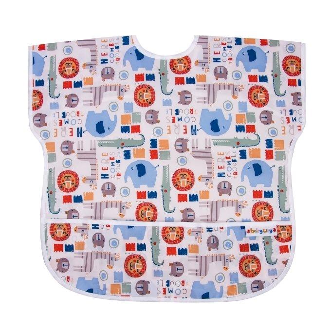 【任二入95折】Baby City娃娃城 - 防水短袖圍兜 (1-3歲) 5