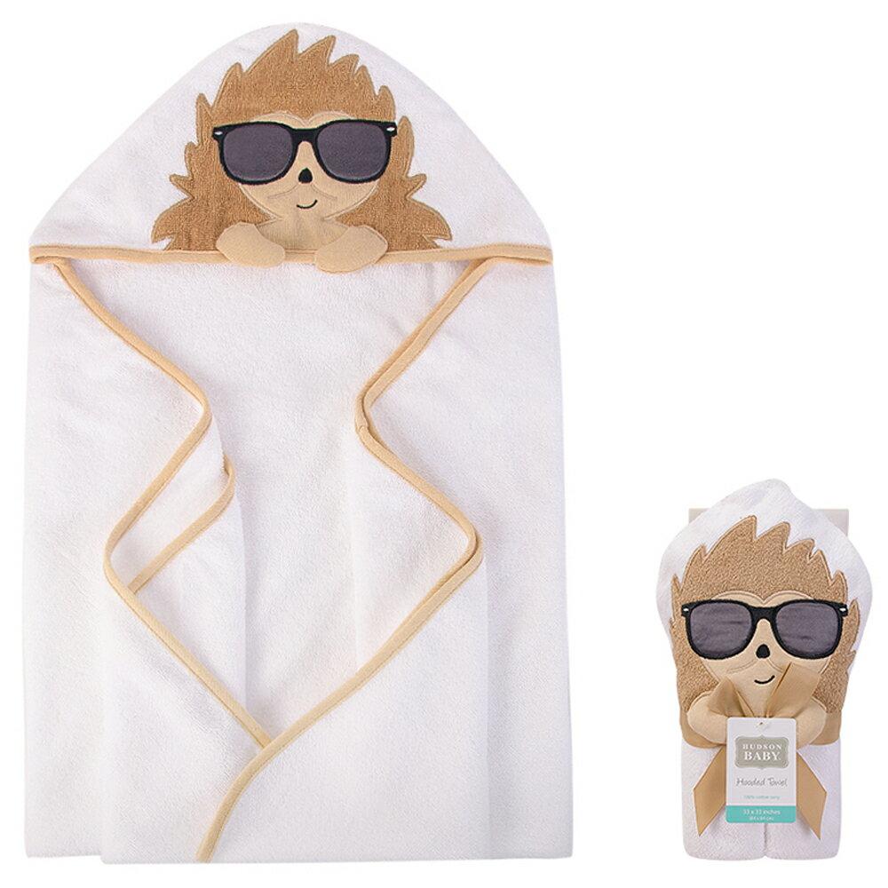 美國  luvable friends  100% 純棉嬰幼兒動物造型連帽浴巾/包巾_酷炫小猴子 (LF00452)