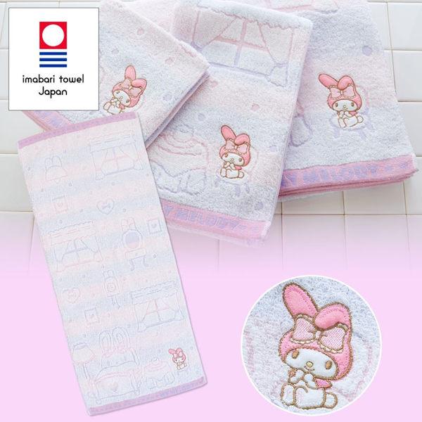 日本美樂蒂毛巾長方巾刺繡坐椅316146