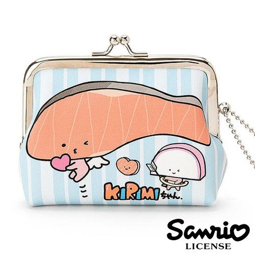 ~  ~KIRIMI醬 鮭魚醬 皮質 珠扣包 零錢包 卡片包 收納包 三麗鷗 Sanrio
