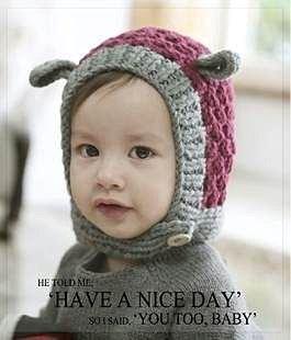 =優生活=韓國兒童針織毛帽 兒童秋冬帽子 造型帽子 保暖帽 嬰兒帽