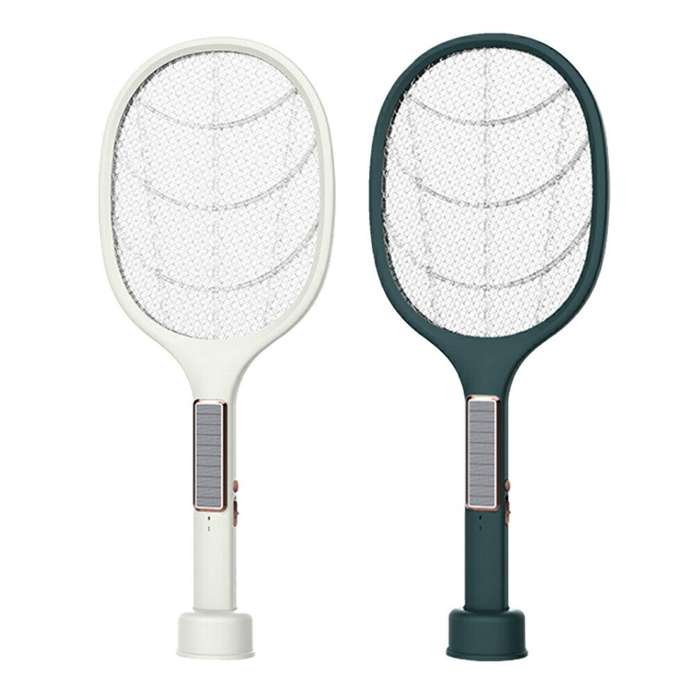 太陽能充電 電蚊拍 二合一充電式 補蚊燈 3000v 補蚊拍 二合一 usb充電  兩用