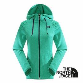 The North Face 女 刷毛保暖兜帽外套 海島綠灰 CUK5