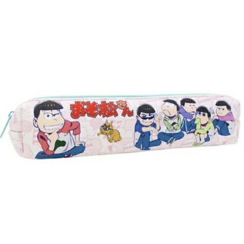 粉色款【日本正版】阿松 小松先生 長型 防震 筆袋 鉛筆盒 長筆袋 - 451400
