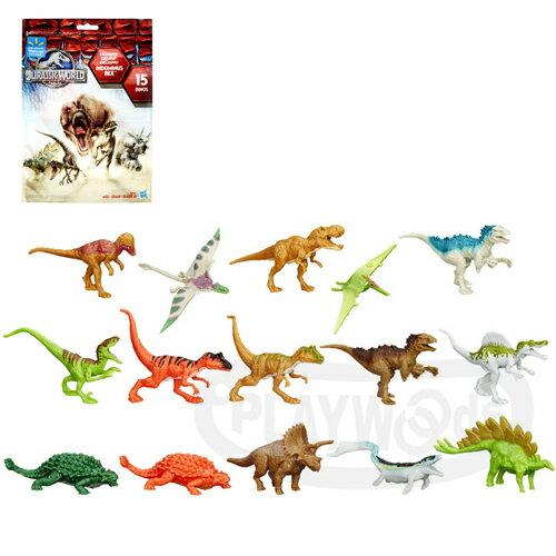 【Playwoods】[侏儸紀世界]迷你恐龍玩具包 隨機款(孩之寶/Hasbro/Jurassic World/侏羅紀公園/努布拉島/帝王暴龍/迅猛龍/迴轉球/雷龍/翼龍/滄龍)