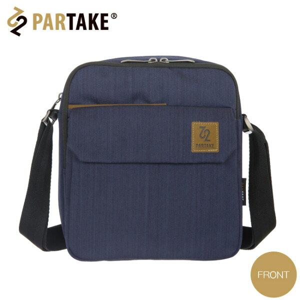 【加賀皮件】PartakeB3銀座系列磁扣暗袋特多龍雙主袋雙拉鍊肩背包小直側背包B3-63