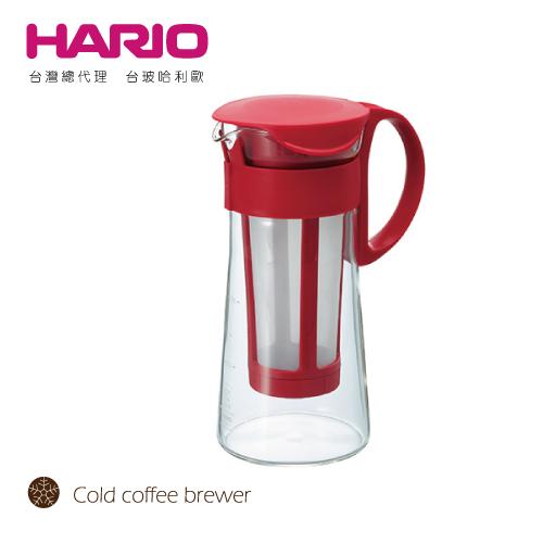 【HARIO】迷你紅色冷泡咖啡壺600 / MCPN-7R