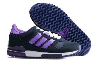 Adidas/愛迪達 ZX700系列 女鞋 慢跑鞋 運動休閒鞋(36—39黑紫)