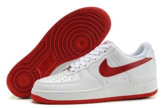 NIKE AIR FORCE 1 NK AF1 空軍一號 新經典情侶板鞋 白紅 低幫 男女鞋