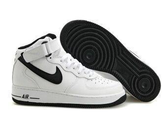 NIKE AIR FORCE 1 NK AF1 空軍一號 新經典情侶板鞋 白黑高幫 男女鞋