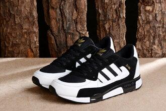 Adidas 愛迪達 經典款李敏鎬金嘆款ZX850三葉草 白黑 男女情侶鞋