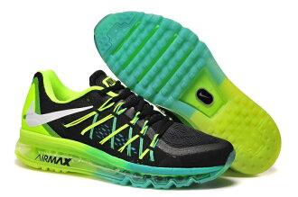 Nike AIR MAX 2015 全掌氣墊 黑黃綠 男款