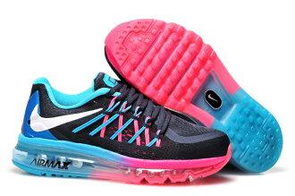 Nike AIR MAX 2015 全掌氣墊 黑桃紅玉 女款
