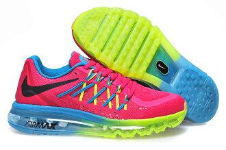 Nike AIR MAX 2015 全掌氣墊 桃紅綠藍 女款