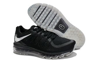 Nike AIR MAX 2015 全掌氣墊 黑白 男款
