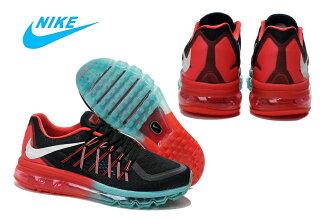 Nike AIR MAX 2015 氣墊飛線黑/白紅湖水蘭 男款