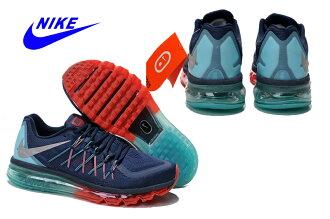 Nike AIR MAX 2015 氣墊飛線深藍/紅月 女款