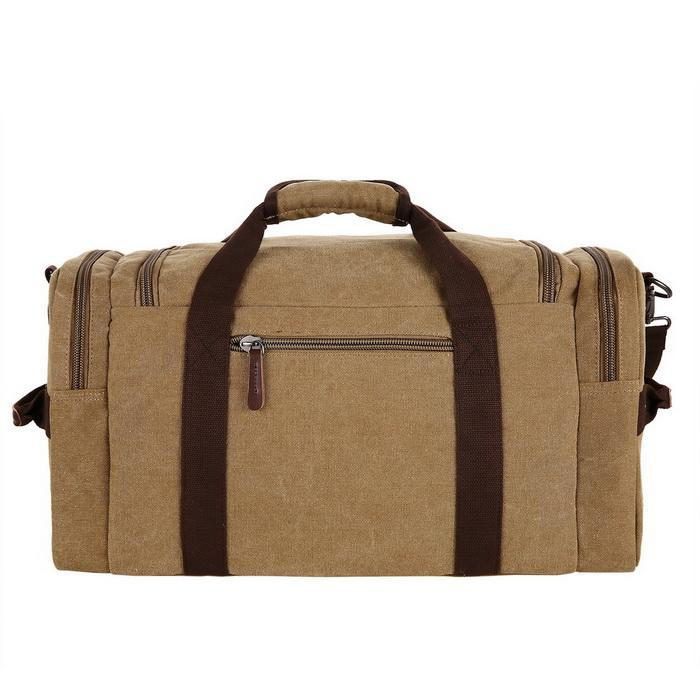 Canvas Duffle Bag Oversized Travel Tote Luggage with Shoulder Strap 3