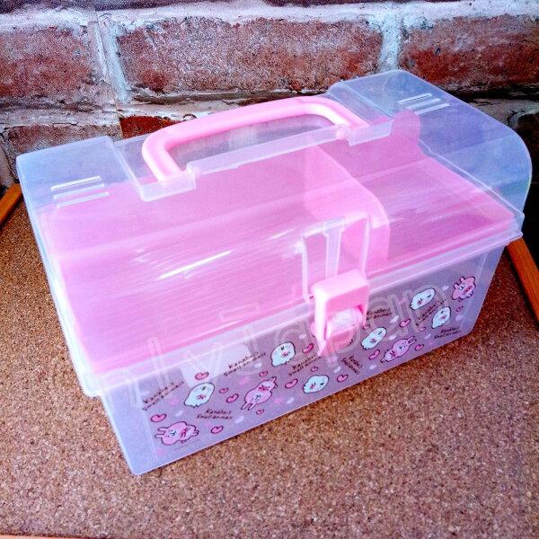 【真愛日本】18050700010手提置物盒-卡娜赫拉愛心卡娜赫拉的小動物兔兔P助收納盒收納箱手提箱