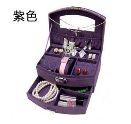 韓國 絨布雙層首飾盒 珠寶盒 飾品收納盒