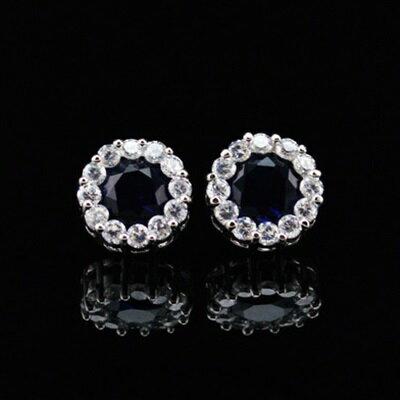 ~925純銀耳環鑲鑽耳飾~精緻璀璨奢華耀眼七夕情人節 女飾品3色73hz117~ ~~米蘭
