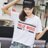 F-DNA★HOLLYWOOD撞色英文圓領短袖上衣T恤(3色-M-2XL)【ET12715】 2