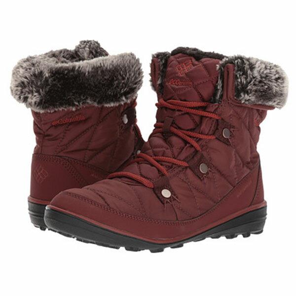 《台南悠活運動家》COLUMBIA UBL27560 防水保暖雪靴-紅