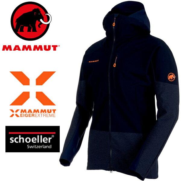 Mammut長毛象軟殼外套登山夾克極限系列EisfeldLightSO男款1011-000205924夜藍