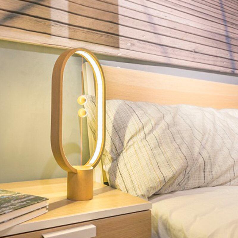 荷蘭 allocacoc Heng衡 LED燈 / 櫸木 / 淺色橢圓 1