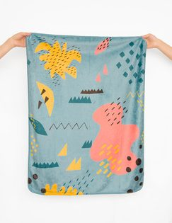 MoguMogu 莫谷市集:Pluto9-韓國時尚彩繪雙面毯-〈仙境〉