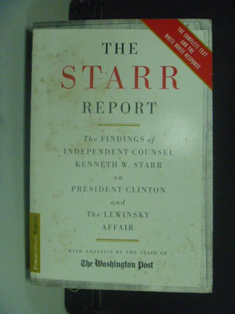 【書寶二手書T9/原文小說_GSP】The Starr Report_Starr, Kenneth