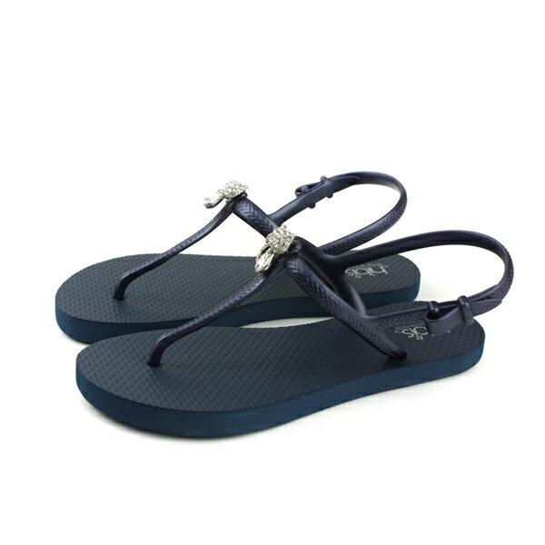 夾腳涼鞋深藍色女鞋82401-02no153