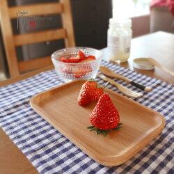 日式風格 櫸木實木無漆木托盤早餐盤果盤點心盤蛋糕盤 整木無拼接 P002