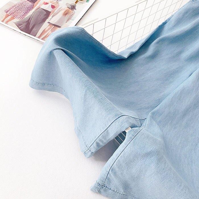 七分褲 素色 寬管褲 垂墜感 薄款 鈕扣 裝飾 鬆緊腰 七分褲【HA821】 BOBI  05 / 30 8