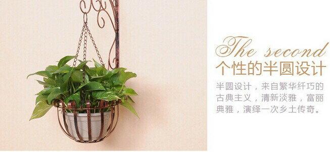 歐式鐵藝室內壁掛花盆架花架(現貨+預購)