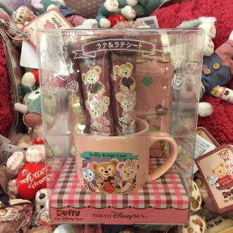 BEETLE PLUS 現貨 DISNEY DUFFY 2017情人節 樂園限定 達菲 雪莉玫 畫家貓 馬克杯 咖啡杯 J-84