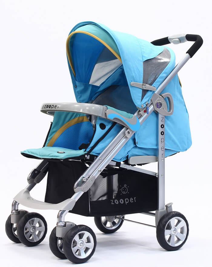 【淘氣寶寶●無外箱商品95成新】美國 Zooper Waltz Smart 舒適型嬰兒車 露草藍