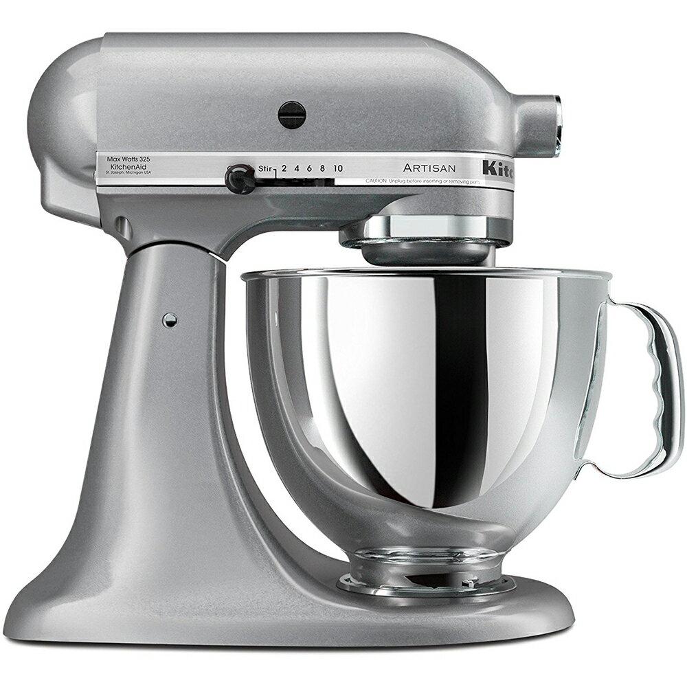 KitchenAid KSM150PSSM Artisan Series 5-Quart Stand Mixer, Silver Metallic 0