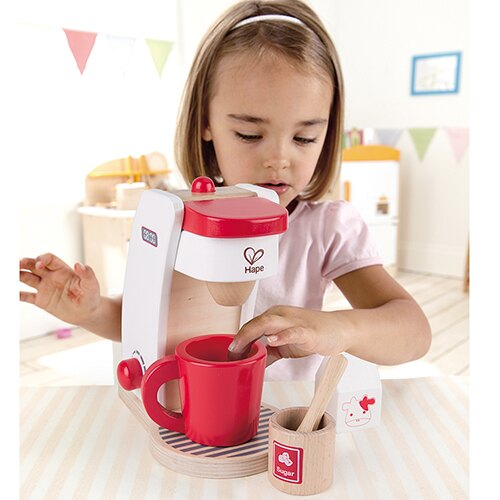 【德國Hape愛傑卡】角色扮演系列咖啡製作機-紅白限量版