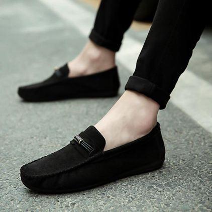 新款夏季豆豆鞋男士韓版潮流休閒男鞋懶人一腳蹬百搭透氣潮鞋SUPER SALE樂天雙12購物節