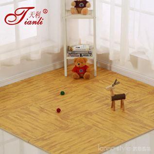 木紋地墊仿木地板墊兒童拼圖地墊臥室拼接泡沫地墊加厚爬行墊 LannaS YTL