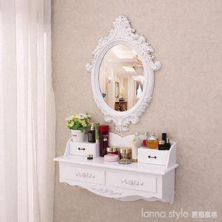 壁掛梳妝臺鏡迷你臥室網紅ins北歐式小戶型飄窗簡約化妝臺梳妝桌  LannaS  YDL