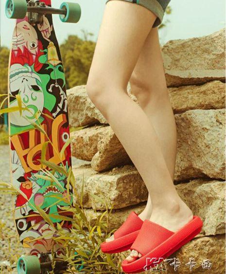 夏季外穿涼拖鞋超厚底潮ins網紅女防滑軟底室內居家用男情侶SUPER 全館特惠9折