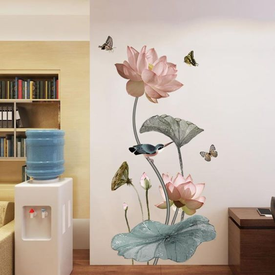 玄關臥室房間牆貼畫裝飾品牆壁貼紙自黏牆貼壁紙可移除貼紙  LannaS