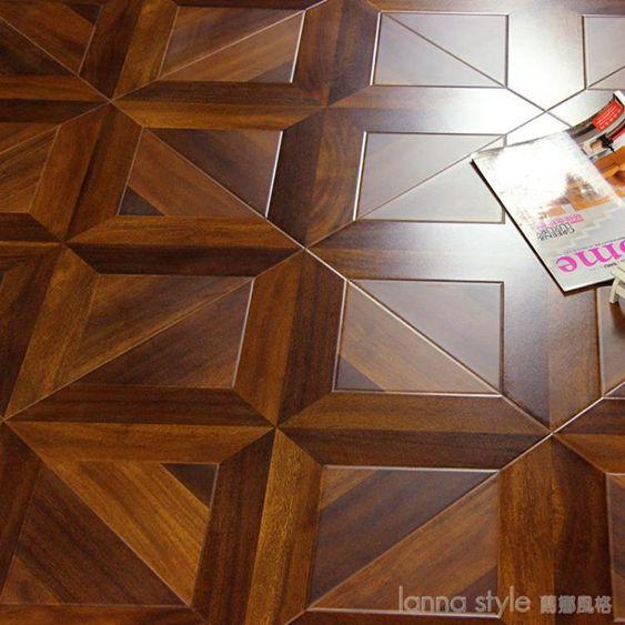 歐式個性復古藝術拼花強化耐磨防水復合木地板12mm LannaS YTLSUPER 全館特惠9折