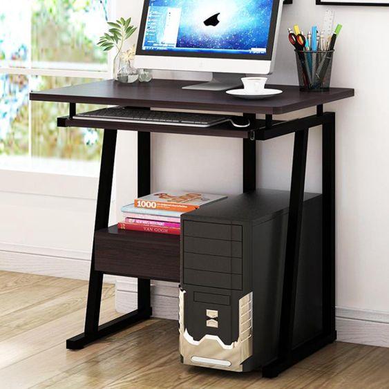 電腦桌臺式家用簡約經濟型學生臥室書桌書架組合省空間簡易小桌子 YDL