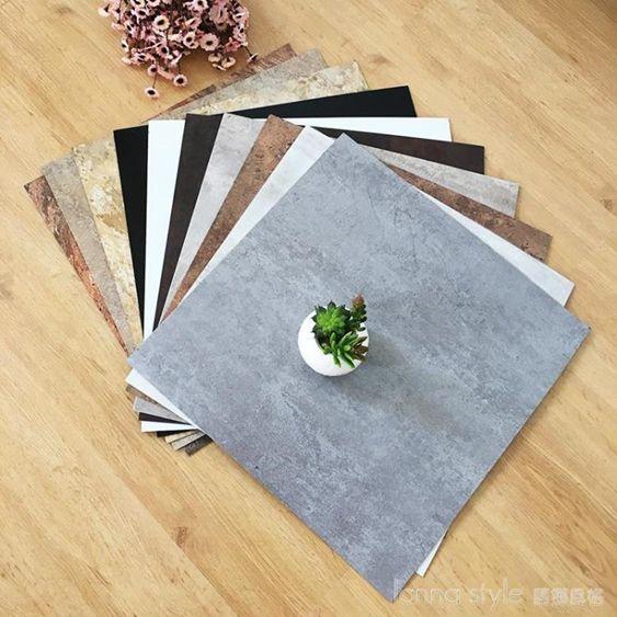 pvc地板自黏地板貼紙地板革加厚耐磨塑膠地板貼家用防水臥室地膠 LannaS YTL